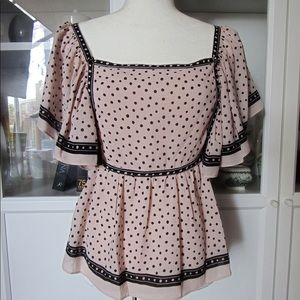 Max Studio Tops - Max Studio Blush Pink Butterfly Sleeve Blouse NEW!